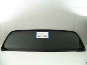 For 05 19 Toyota Tacoma 2 4 Dr Pickup Back Window Rear Glass Stationary Dark U S