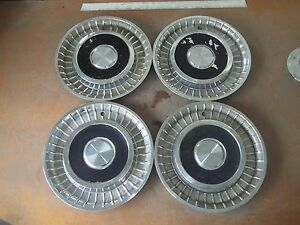 1958 58 Lincoln Hubcap Rim Wheel Cover Hub Cap 14 Oem Used Set 4
