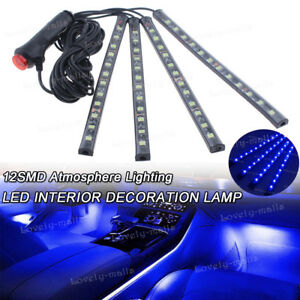 Blue Color Bar Glow Dash Footwell Interior Light 5050 Led Strip Lamp For Lincoln