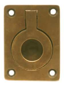 Maritime Nautical Solid Brass Flush Door Hatch Handle Pull