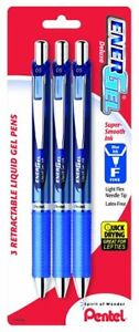 Pentel Energel Deluxe Rtx Retractable Liquid Gel Pen 0 5mm Needle Tip Blue Ink