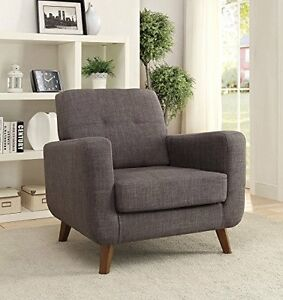 Coaster Home Mid Century Modern Accent Chair Grey Fabric Upholstery 902481 NEW