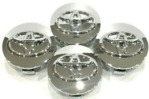 4 Pcs Toyota Wheel Center Hub Cap Chrome Mirror 62 Mm 2 44 Camry Corolla