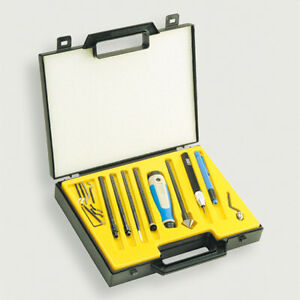 Noga Ng9400 Gold 20 Pc Machinist Deburring Kit With Handle Holders Blades