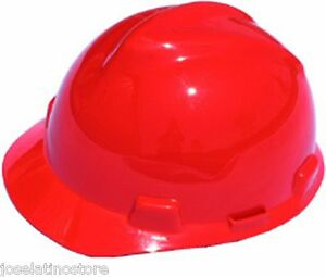 Msa Red V gard Cap Style Safety Hard Hat Ratchet Suspension New Fast Shipping
