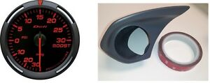 Combo Kit Defi Red Racer Boost Gauge With Z S Single Meter Hood