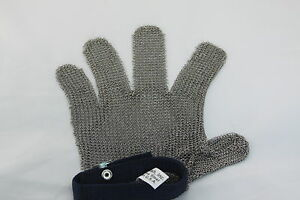 Metal Safety Protective Glove Right Or Left Five Finger Large Stainless Steel