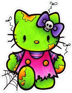 19 Hello Kitty Zombie Sticker Decal