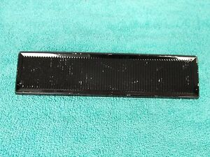 1963 66 Plymouth Valiant Barracuda Dart Black Radio Delete Plate 616