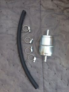 Universal 5 16 Metal Fuel Filter With 1 Hose And Clamps