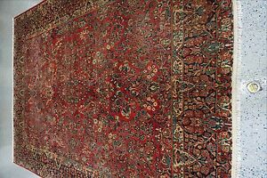 10 1 X13 2 Handmade Antique Persian Sarouk Rug