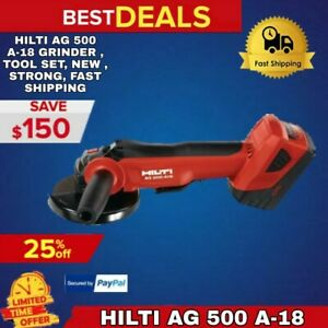 Hilti Ag 500 A 18 Grinder Tool Set New Strong Fast Shipping