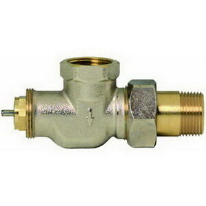 Honeywell V2040a Braukmann Nickel plated Thermostatic Radiator Valve 3 4