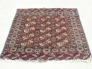 Antique Tekke Princess Bokhara Bokara Turkoman Turkman Tribal Rug Carpet 42x46