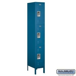 Standard Metal Locker Triple Tier 1 Wide 6 High 18 Deep Blue 63168bl u New