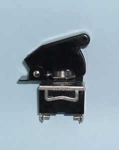 1 Spst On off Full Size Toggle Switch With Black Safety Cover