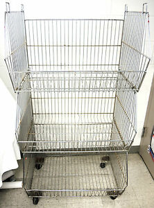 Rolling Metal Basket Cart