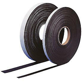 Self Adhesive Magnetic Strip 100 Ft X 2 H Roll Black Lot Of 1