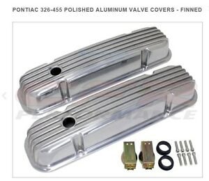 Pontiac 326 455 Polished Aluminum Valve Covers Finned Cfr Performance Sharp