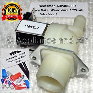 Scotsman A32405 001 Ice Maker Water Solenoid Valve 110 120v Free Fast Shipping