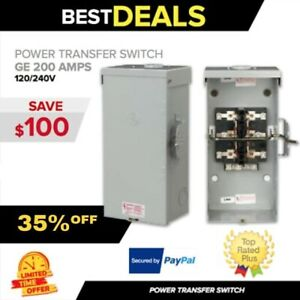 Transfer Switch Ge 200 Amps 120 240v Manual Portable Generator Fast Ship