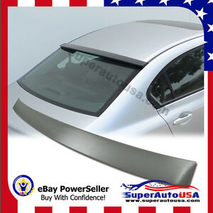 For 2012 2015 Honda Civic 4dr Sedan Rear Window Roof Visor Spoiler Matte Black