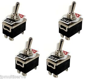 4 Dpst On off Toggle Switches 1 2 Mount 20a