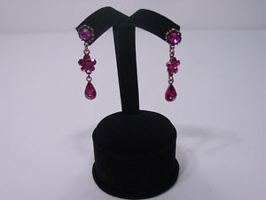 New 4 h Black Velvet Earring Jewelry Display Stand Top Case Rd7b1