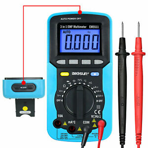 3 In 1 Emf Digital Multimeter Autorange 4000counts With Backlight Lcd Dmm Testes