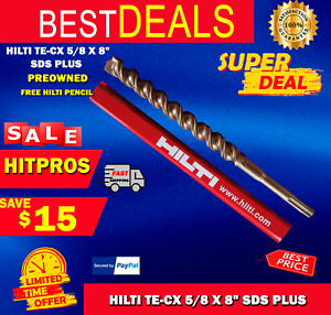 Hilti Te cx 5 8 X 8 Sds Plus Preowned free Hilti Pencil l k Fast Shipping
