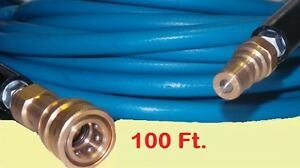 Truckmount Machine Carpet Upholstery Cleaning Solution Hose 100 Ft With Qd s