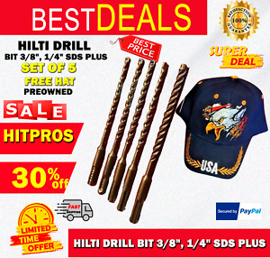 Hilti Drill Bit 3 8 1 4 Sds Plus Preowned Free Hat Set Of 5 Fast Ship