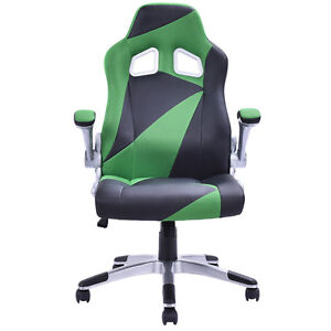 Pu Leather Executive Racing Style Bucket Seat Office Chair Desk Task Computer