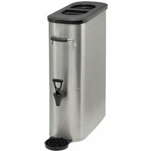 Iced Tea Dispenser 5 Gallons Stainless Steel Winco Ssbd 5 Restaurant Supplies