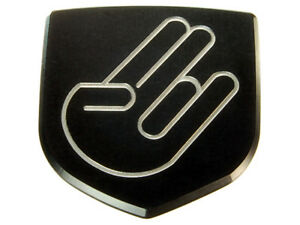 New Dodge Charger Custom Front Emblem Badge Black Shocker