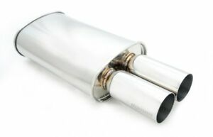 Megan Racing M Dt Universal High Flow Exhaust Muffler Dual 3 Tips 2 5 Inlet