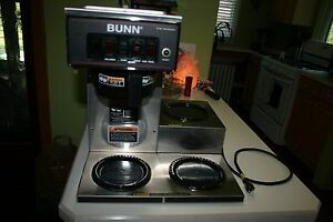 Bunn Cw Series Cwt15 Commercial Coffee Maker Cwt 15 3lwr Wrmr Pf 3 Pot 2005