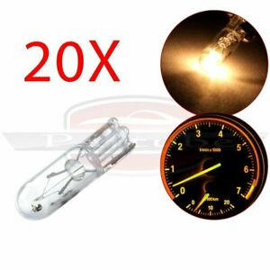 20x White T5 74 18 37 70 Dashboard Indicator Incandescent Mini Wedge Bulb Light