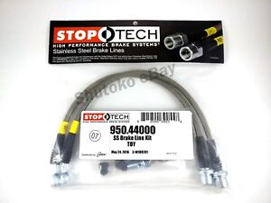 Stoptech Stainless Steel Front Brake Lines For 01 05 Lexus Is300 02 07 Sc430