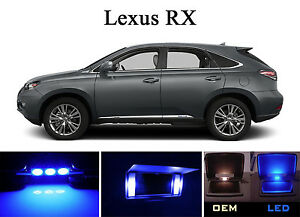 Ultra Blue Vanity Sun Visor Led Light Bulbs For Lexus Rx 350 Rx 450h 2 Pcs