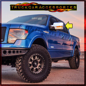 For Ford F150 2009 2010 2011 2012 2013 2014 Chrome Mirror Covers With Signal Cut
