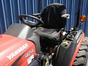 Tractor Seat Cover Small Forklift Seat Cover Small Phone Pocket Black