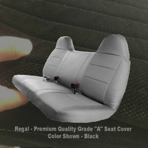 Automotive Grade F23 10mm Thick Triple Stitched Black Bench Seat Cover