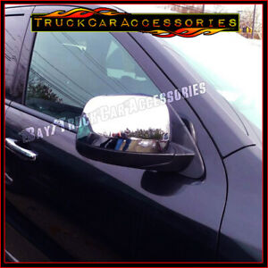For Dodge Durango 2011 2012 2013 2014 2015 2016 Chrome Top Half Mirror Covers