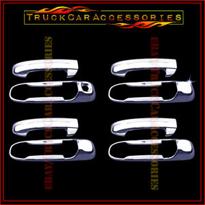 For Dodge Ram 1500 2500 3500 2002 2007 2008 Chrome 4 Door Handle Covers W Out Pk