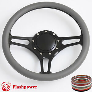 14 Billet Steering Wheels Half Wrap Ford Fairlane Galaxie Ltd With Horn Button