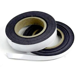Self Adhesive Magnetic Tape Flexible Craft Sticky Magnet Strip Roll 12 5 25 Mm