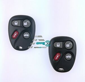 2 New Replacement Keyless Entry Remote Key Fob Control For 25695954 25695955