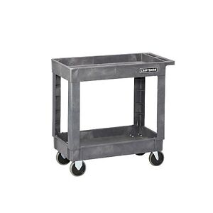 New Craftsman Utility Cart 34 1 2 2 shelf Heavy duty Plastic Commercial