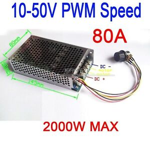 80a Dc 10 50v 2000w Pwm Dc Brush Motor Speed Control F Car Cooling Fan Dimmer